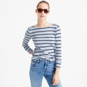 J.Crew Striped Long Sleeve Cotton Blue Painter Tee